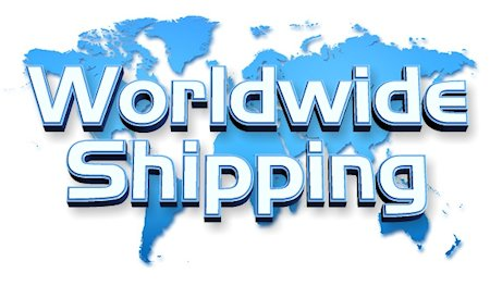Worldwide shipping.