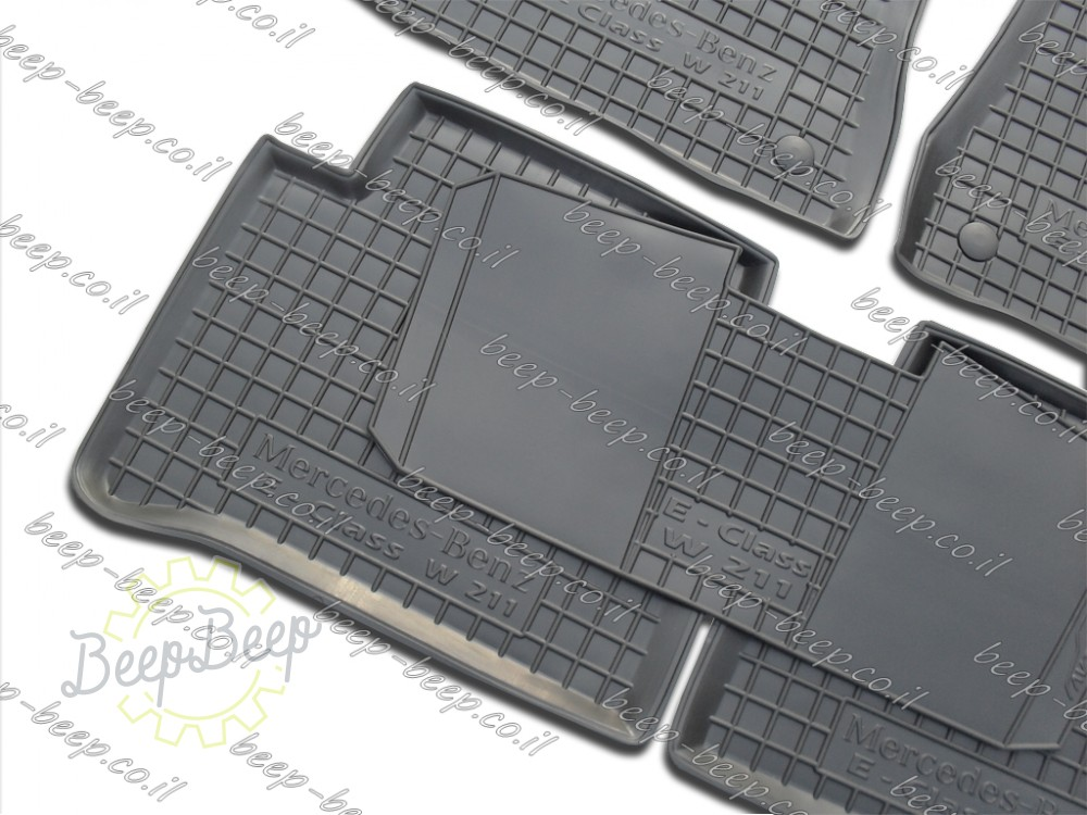 2003—2009 Set of 5 Car Floor Mats Carpet for MERCEDES E-CLASS Fully Tailored Rubber W211