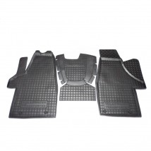 Car Floor Mats for VOLKSWAGEN T5 (TRANSPORTER, 1+1) 2003—2015 Custom Fit All Weather Liners