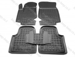 Car Floor Mats for PEUGEOT 2008 II 2020—2021 Custom Fit All Weather Liners