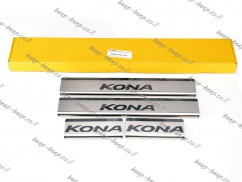 Door sill lining for HYUNDAI KONA 2017—2021 Chrome Scuff Plate Cover