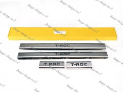 Door sill lining for VOLKSWAGEN T-ROC 2018—2021 Chrome Scuff Plate Cover