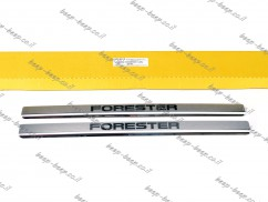 Door sill lining for SUBARU FORESTER V 2019—2021 Chrome Scuff Plate Cover