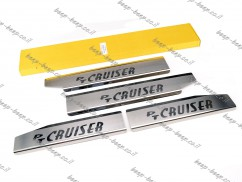 Door sill lining for CHRYSLER PT CRUISER 2000—2010 Chrome Scuff Plate Cover