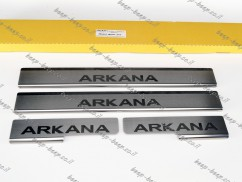 N.Niko Door sill lining for RENAULT ARKANA 2019—2022 Chrome Scuff Plate Cover