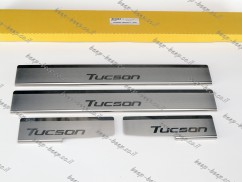 N.Niko Door sill lining for HYUNDAI TUCSON 2020—2022 Chrome Scuff Plate Cover