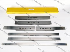 N.Niko Door sill lining for SKODA KAMIQ I 2019—2021 Chrome Scuff Plate Cover