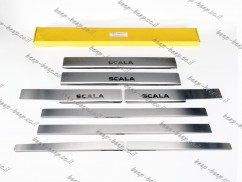 N.Niko Door sill lining for SKODA SCALA I 2019—2021 Chrome Scuff Plate Cover