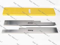 Door sill lining for SUZUKI JIMNY IV 2019—2021 Chrome Scuff Plate Cover