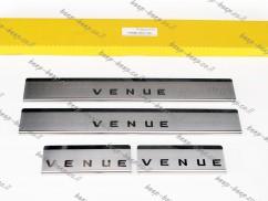Door sill lining for HYUNDAI VENUE 2019—2021 Chrome Scuff Plate Cover