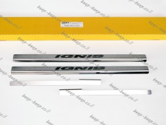 Door sill lining for SUZUKI IGNIS 2017—2021 Chrome Scuff Plate Cover