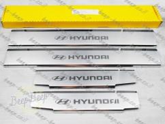 N.Niko Door sill lining for HYUNDAI IONIQ 2021—2022 Chrome Scuff Plate Cover