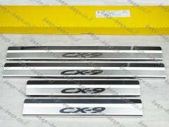 Door sill lining / Chrome cover / Scuff plate for MAZDA CX-9 II 2016—2020