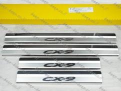 Door sill lining for MAZDA CX-9 II 2016—2020 Chrome Scuff Plate Cover