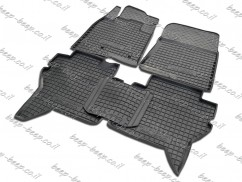 Fully Tailored Rubber / Set of 5 Car Floor Mats Carpet for MITSUBISHI PAJERO WAGON IV 2007—2019