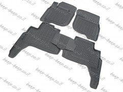 Fully Tailored Rubber / Set of 5 Car Floor Mats Carpet for MITSUBISHI PAJERO SPORT III 2016—2020