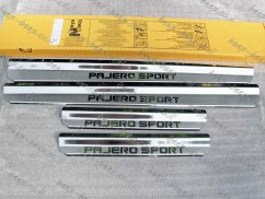 Door sill lining / Chrome cover / Scuff plate for MITSUBISHI PAJERO SPORT II 2009—2015