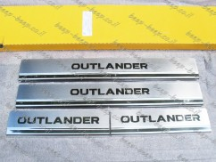 Door sill lining for MITSUBISHI OUTLANDER III 2014—2020 Chrome Scuff Plate Cover