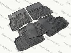 Fully Tailored Rubber / Set of 5 Car Floor Mats Carpet for NISSAN LEAF I 2011—2017