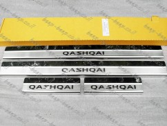 Door sill lining for NISSAN QASHQAI J11 2014—2019 Chrome Scuff Plate Cover