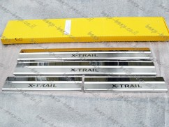 Door sill lining for NISSAN X-TRAIL T32 2014—2020 Chrome Scuff Plate Cover