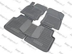 Fully Tailored Rubber / Set of 5 Car Floor Mats Carpet for SKODA KODIAQ I 2016—2020