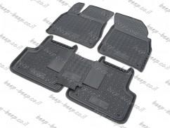 Fully Tailored Rubber / Set of 5 Car Floor Mats Carpet for AUDI Q7 II 2015—2020