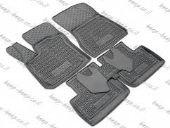 Fully Tailored Rubber / Set of 5 Car Floor Mats Carpet for SMART FORFOUR W453 2015—2019