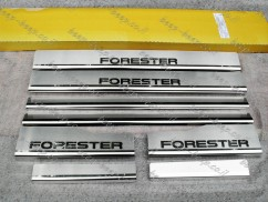 Door sill lining / Chrome cover / Scuff plate for SUBARU FORESTER IV 2013—2018