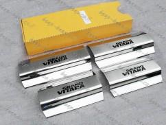 Door sill lining for SUZUKI GRAND VITARA 2007—2015 Chrome Scuff Plate Cover