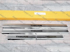 Door sill lining for VOLKSWAGEN TIGUAN II 2016—2020 Chrome Scuff Plate Cover