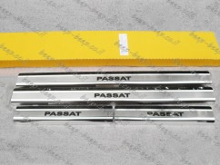 Door sill lining for VOLKSWAGEN PASSAT B7 2010—2014 Chrome Scuff Plate Cover