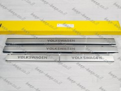Door sill lining for VOLKSWAGEN ARTEON 2017—2020 Chrome Scuff Plate Cover