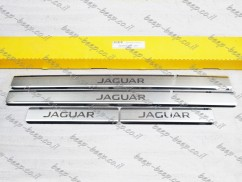 N.Niko Door sill lining / Chrome cover / Scuff plate for JAGUAR E-PACE 2017—2019