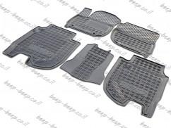 AV-G Fully Tailored Rubber / Set of 5 Car Floor Mats Carpet for HONDA HR-V II 2015—2019