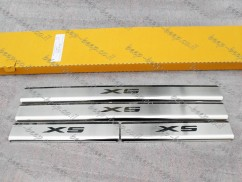 Door sill lining for BMW X5 E70 2007—2013 Chrome Scuff Plate Cover