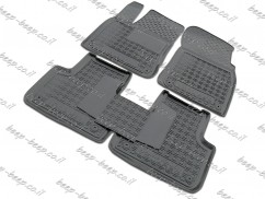 AV-G Fully Tailored Rubber / Set of 5 Car Floor Mats Carpet for VOLKSWAGEN TOUAREG III 2018—2020