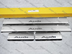 N.Niko Door sill lining / Chrome cover / Scuff plate for AUDI Q2 I 2016—2020