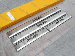 Door sill lining for BMW X6 E71 2008—2014 Chrome Scuff Plate Cover