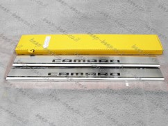 Door sill lining for CHEVROLET CAMARO V 2010—2015 Chrome Scuff Plate Cover