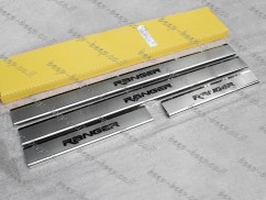 Door sill lining for FORD RANGER II 2006—2011 Chrome Scuff Plate Cover