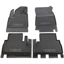 Car Floor Mats for PEUGEOT RIFTER (WITH ARMREST) 2019—2020 Custom Fit All Weather Liners
