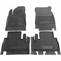 Car Floor Mats for PEUGEOT RIFTER (WITHOUT ARMREST) 2019—2020 Custom Fit All Weather Liners