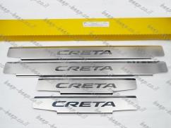 Door sill lining / Chrome cover / Scuff plate for HYUNDAI CRETA 2015—2019
