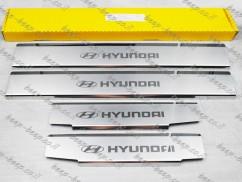 Door sill lining / Chrome cover / Scuff plate for HYUNDAI IONIQ 2016—2020