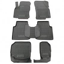Car Floor Mats for SKODA KODIAQ I (7 SEATS) 2016—2020 Custom Fit All Weather Liners