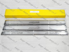 Door sill lining for JAGUAR XF (X260) 2015—2020 Chrome Scuff Plate Cover