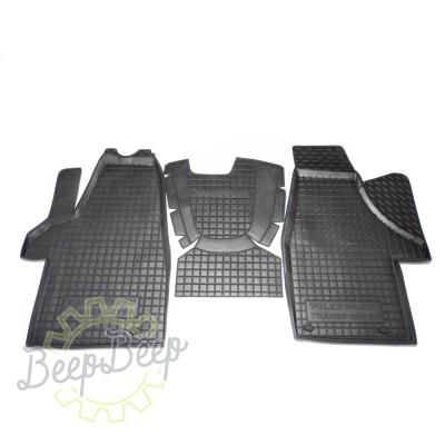AV-G Car Floor Mats for VOLKSWAGEN T5 (TRANSPORTER, 1+1) 2003—2015 Custom Fit All Weather Liners - Picture 1