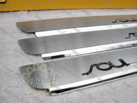 N.Niko Door sill lining / Chrome cover / Scuff plate for KIA SOUL II 2014—2019 - Picture 3