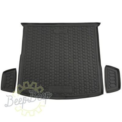 AV-G Cargo Trunk Mat for VOLKSWAGEN TIGUAN II ALLSPACE 2016—2020 Custom Fit Tray Boot Liner - Picture 1